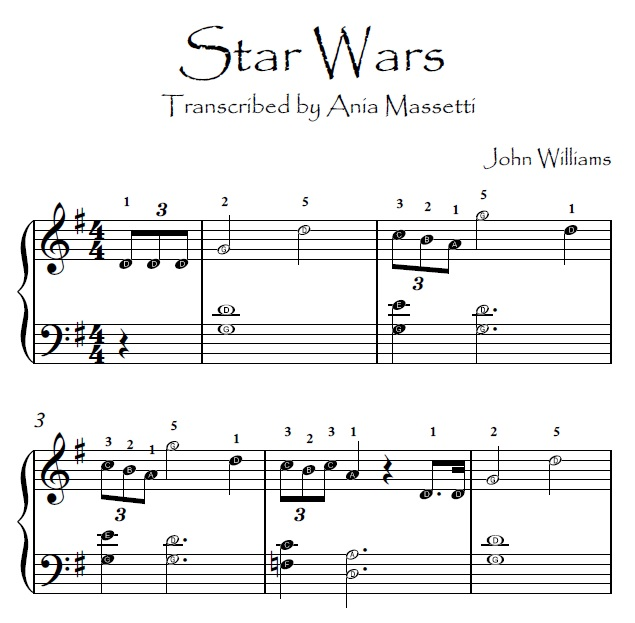 Star Wars John Williams Easy Piano Sheet Music With Letters: Starwars Sheet Music At Alzheimers-prions.com